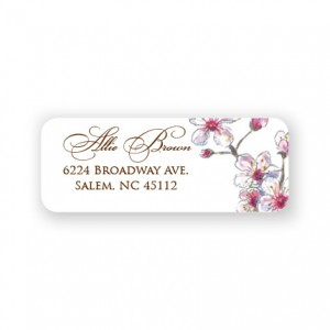 Spring Cherry Address Labels
