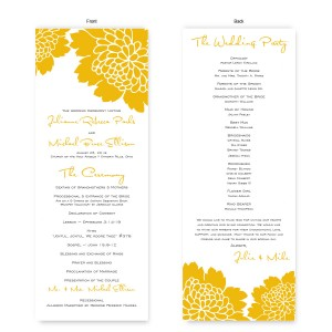 Bliss Wedding Program
