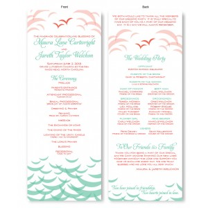 Ocean Wedding Program