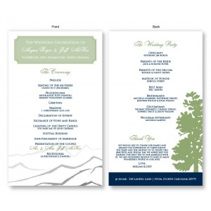 Mountain Wedding Program