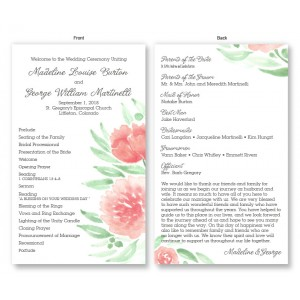 Watercolor Floral Wedding Program