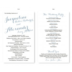 Darling Wedding Program