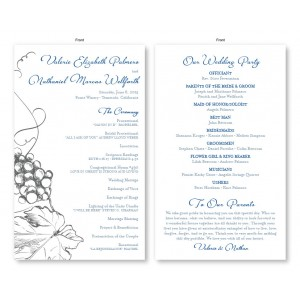 Vineyard Wedding Program