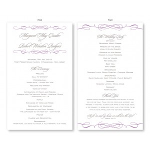 Romance Wedding Program