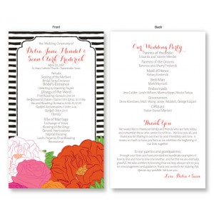 Bouquet Wedding Program