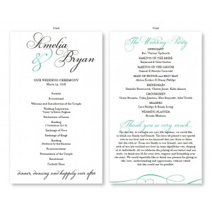 Bella Wedding Program