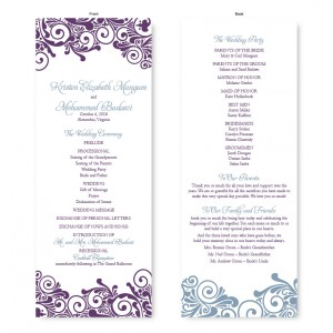 Henna Wedding Program