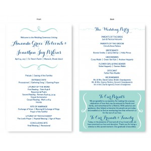 Embrace Wedding Program