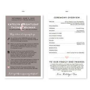 Timeline Wedding Program