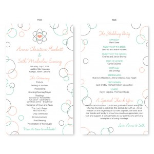 Chemistry Wedding Program