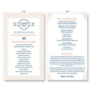 Petite Dots Wedding Program