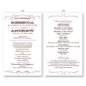 Retro Wedding Program