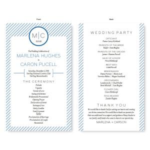 Pinstripe Wedding Program