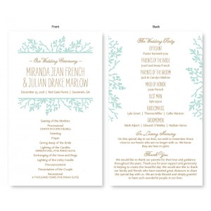 Winter Flora Wedding Program