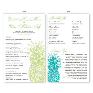 Pineapple Wedding Program