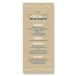 Burlap Menu Cards