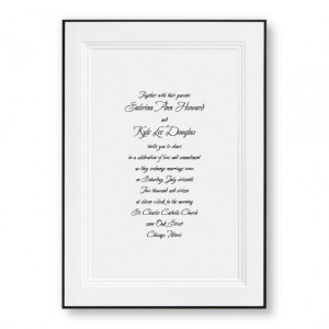 A Classic Black Bordered Wedding Invitations