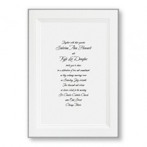 A Classic Wedding Invitations with Silver Border