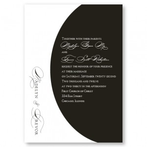 A La Mode Black and White Wedding Invitations