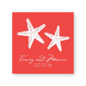 "Starfish 2 1/2"" Square Sticker"