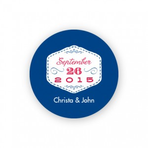 "Stitches 1 1/2"" Round Sticker"