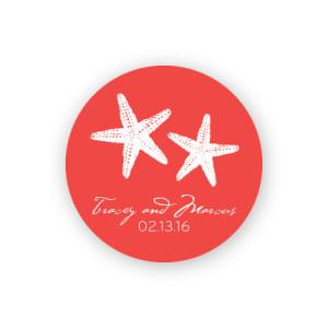 "Starfish 1 1/2"" Round Sticker"