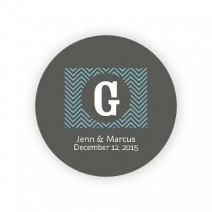 "Chevron 2"" Round Sticker"