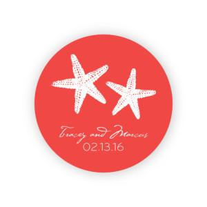 "Starfish 2"" Round Sticker"