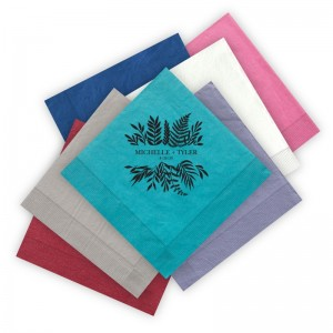 Airy Fronds Letterpress Luncheon Napkins