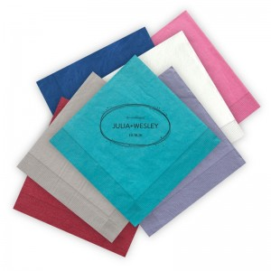 Layered Watercolor Letterpress Luncheon Napkins