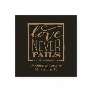 Love Never Fails Favor Tags