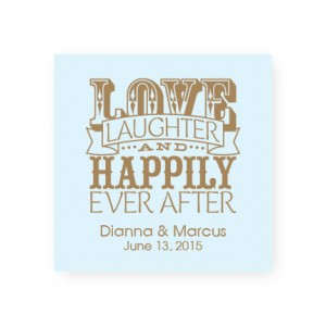 Love Laughter and Happily Favor Tags