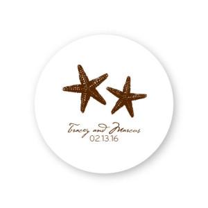 Starfish Round Coasters