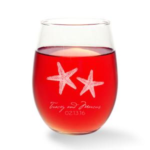 Starfish Stemless Wine Glass