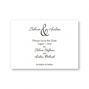 Trendsetting Save the Date Cards