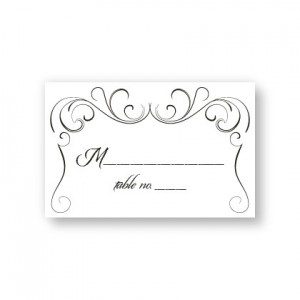 Striking Flourish Seating Cards