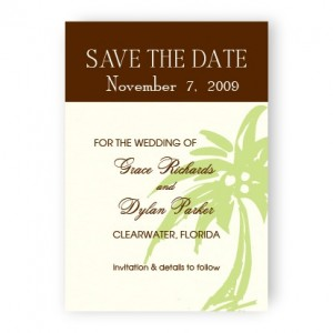 Palm Tree Save The Date Magnets