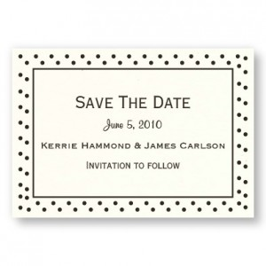 Polka Dot Save The Date Magnets