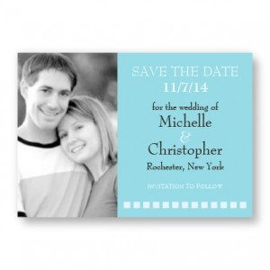 Horizontal Photo Save The Date Magnets