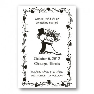 Children of the Inner Light Bride and Groom Save the Date Magnets