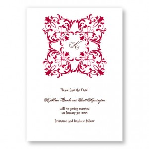 Regal Frame Letterpress Save the Date