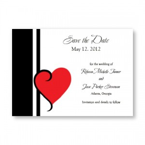 My Heart's Desire Save The Date Cards
