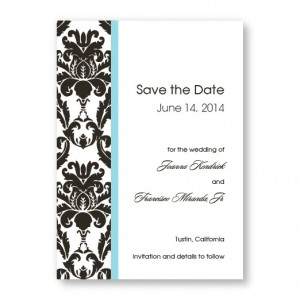 Victoria Damask Vertical Save the Dates