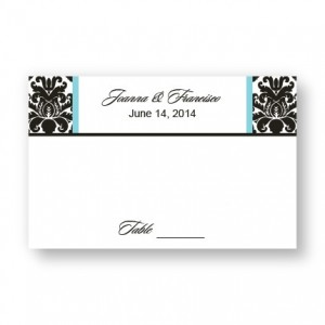 Victoria Damask Seating Cards