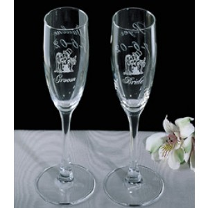 Engraved Couple Glasses