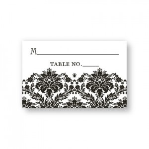 Dramatic Damask Seating Cards