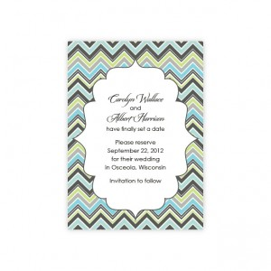 Distinctive Border Save The Date Cards