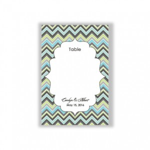 Distinctive Border Table Cards