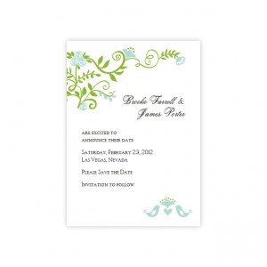 Regal Border Save The Date Cards