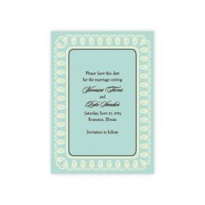 Blooming Border Save The Date Cards